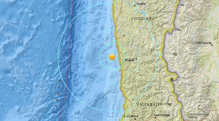 Terremoto in Cile magnitudo 6.9