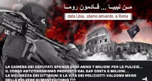 Minacce attentati in Italia da parte dell'Isis