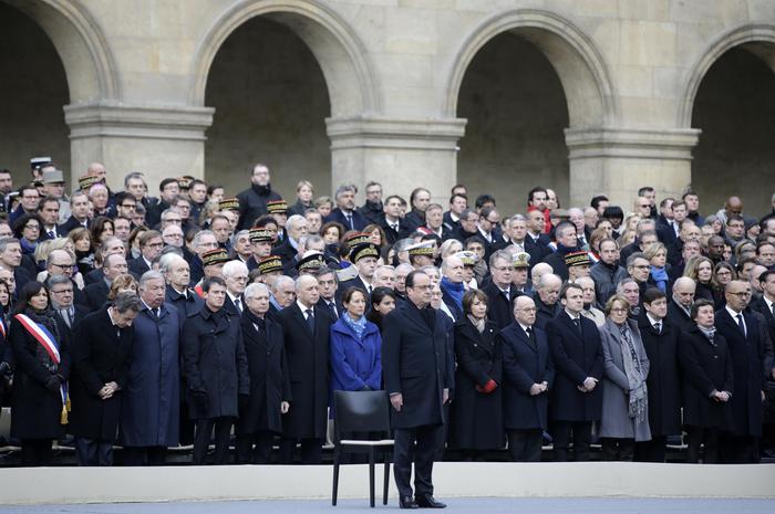Autorità intervenute alla cerimonia a Les Invalides