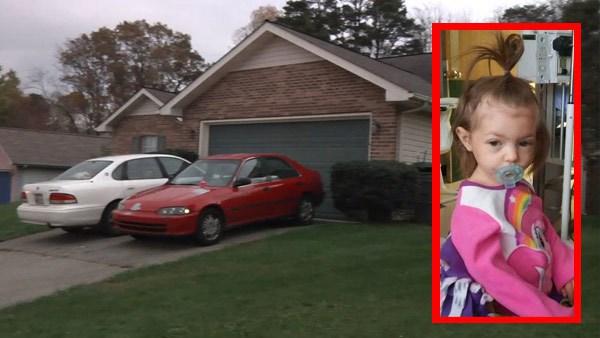 La casa in cui è stata trovata la bambina