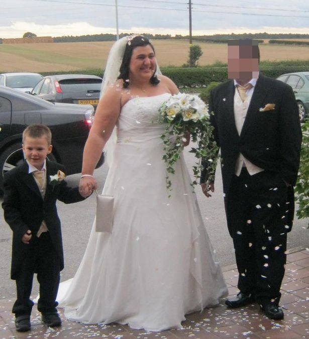 Jen con il marito e il figlio