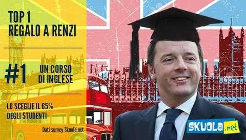Il premier Renzi festeggia 41 anni, il regalo più consigliato è un corso d'inglese