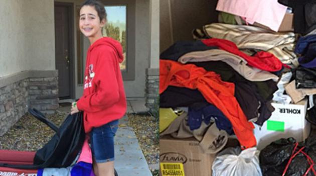 12enne raccoglie più di mille cappotti per i poveri
