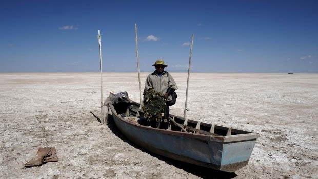 Lago Poopò evaporato