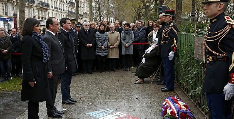 Parigi, lapide per commemorare le vittime del terrorismo