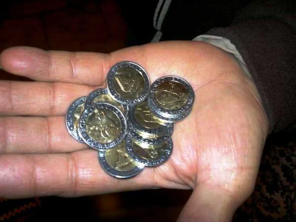Truffa sulle monete
