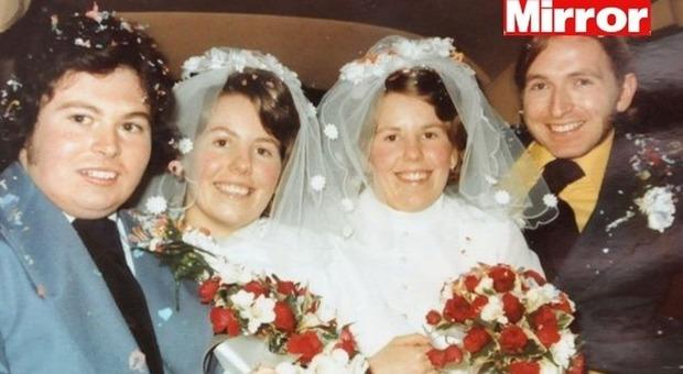 Gemelle si sposano lo stesso giorno, i mariti muoiono assieme 40 anni dopo