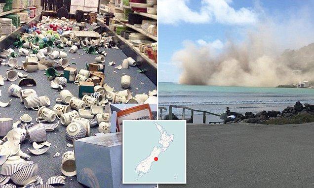 Terremoto in Nuova Zelanda fa precipitare scogliera