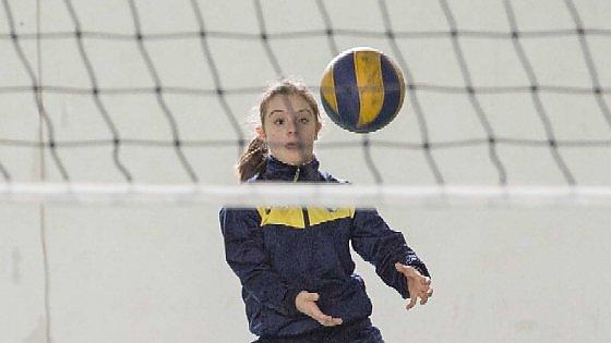 Eleonora mentre gioca a pallavolo