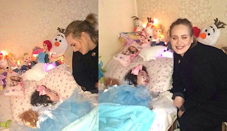 Adele visita una fan gravemente malata