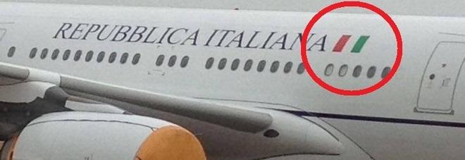 Bandiera italiana al contrario