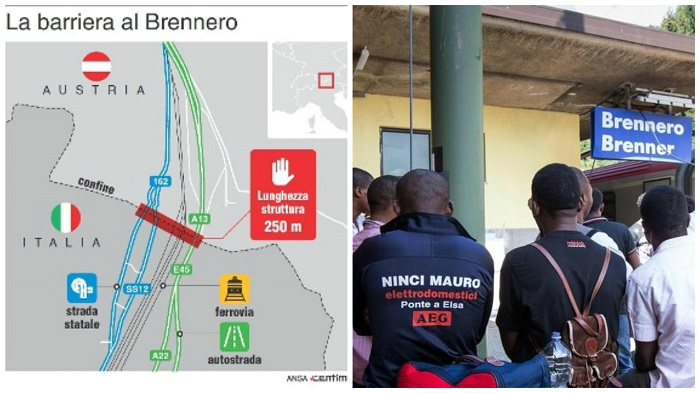 Brennero barriera immigrati