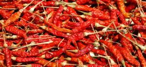 Lista nera peperoncino della Thailandia