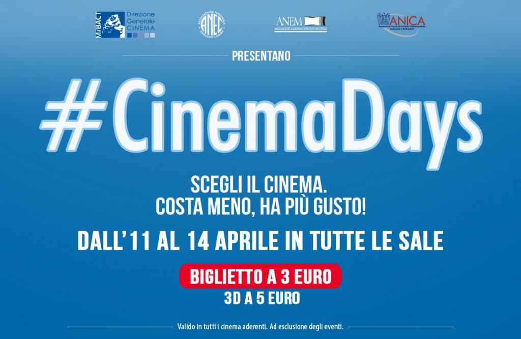 Cinemadays, tutti i film a 3 e 5 euro