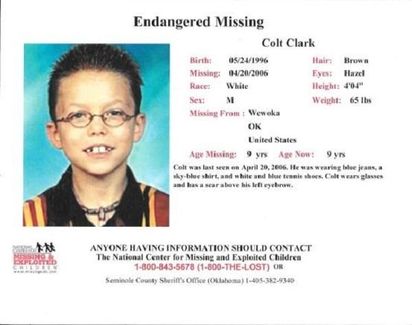 Colton Clark scomparso nel 2006
