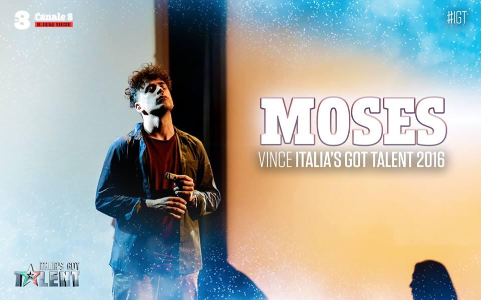 Moses, vincitore di Italia's got talent