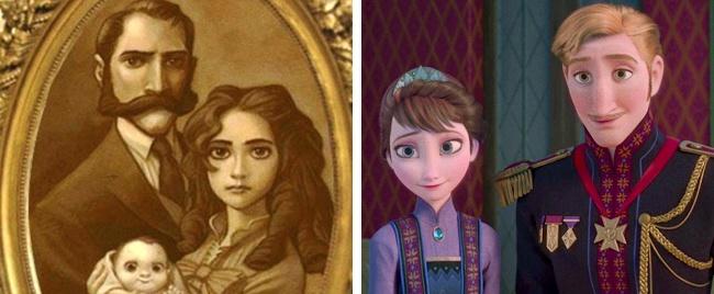 I genitori di Elsa e quelli di Tarzan