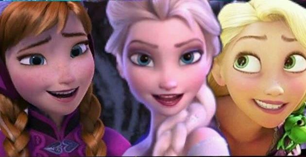Anna, Elsa e Rapunzel