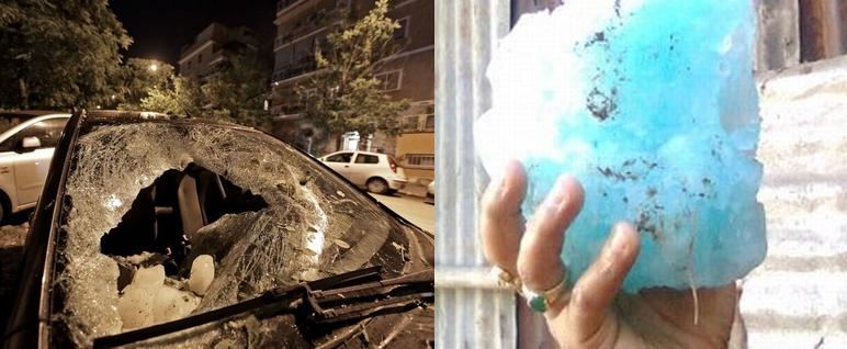 Blocco di ghiaccio caduto dal cielo distrugge auto