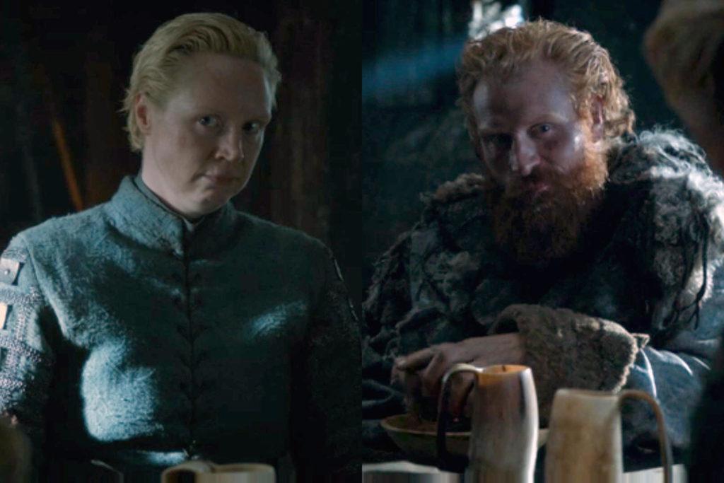 """Brienne e Tormund: colpo di fulmine ne """"Il Trono di Spade""""?"""