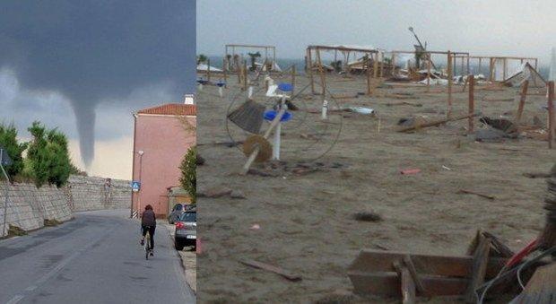 Tornado colpisce Sottomarina: ecco i danni
