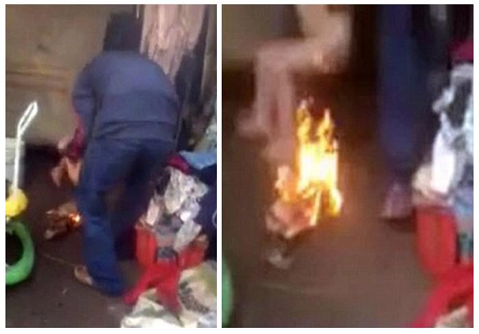 Bambino sporca il letto di feci: genitali bruciati dal patrigno