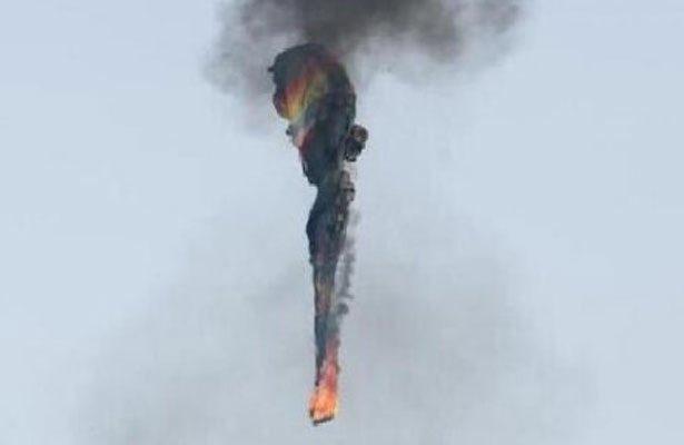 Mongolfiera in fiamme