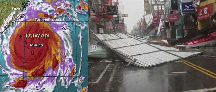Tifone a Taiwan: ecco i danni causati