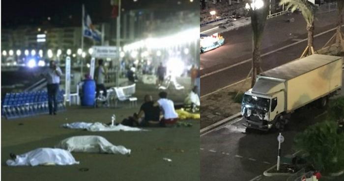 Camion investe folla sul lungomare a Nizza
