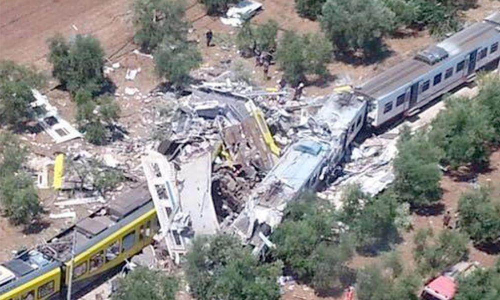 Scontro treni in Puglia