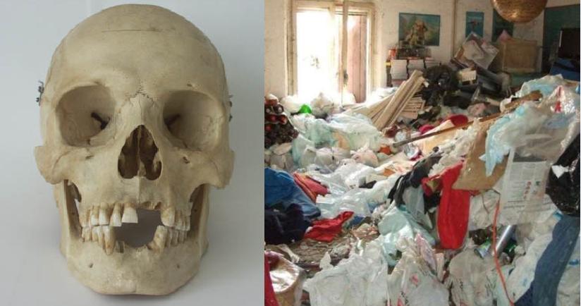 Trova lo scheletro del figlio in casa sommerso dall'immondizia