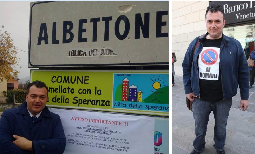 """Albettone, dichiarazioni choc del sindaco: """"Siamo razzisti orgogliosi"""""""