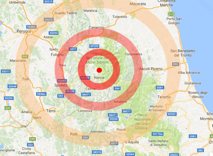 Il terremoto di Norcia è un effetto del contagio sismico
