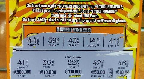 Pensionata vince 500mila euro