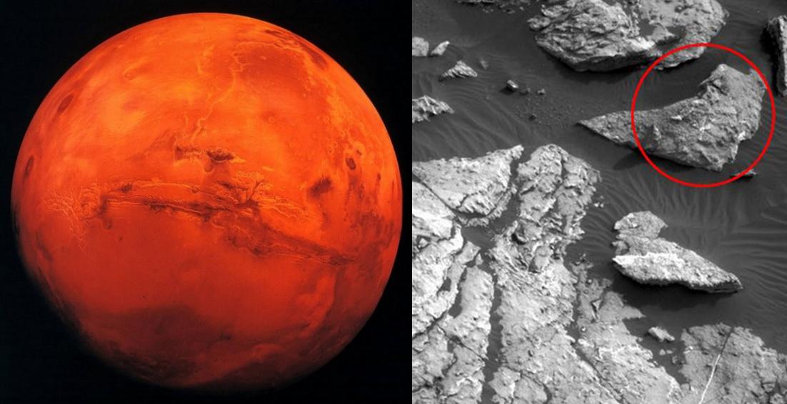Marte, scoperta sagoma di donna sulla superficie