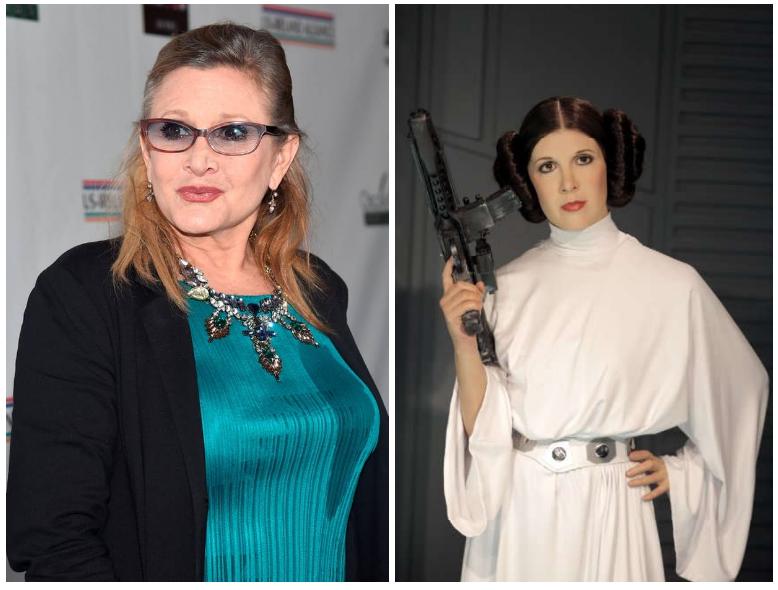 Principella Leila di Star Wars colpita da infarto in volo