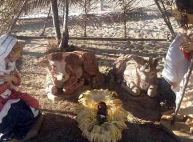 Viareggio: il Gesù Bambino nero