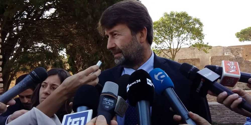 Dario Franceschini in visita a Pompei