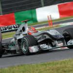 Michael Schumacher al volante della Mercedes