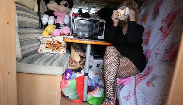 Tiffany nel suo camper