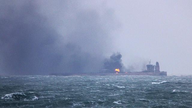 La nave Sanchi, petroliera