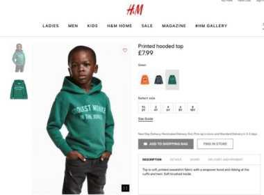 H&M pubblicità razzista