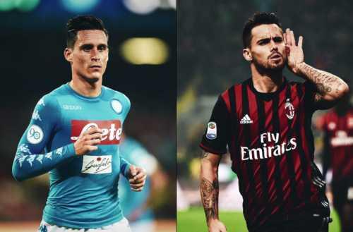 Milan e Napoli: si parla di scambio Suso-Callejon