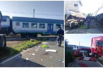 Torino-Ivrea: incidente fra treno e tir