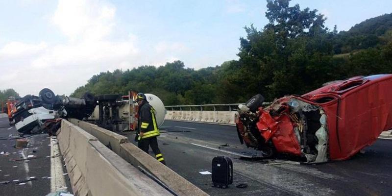 Autostrada A1, incidente