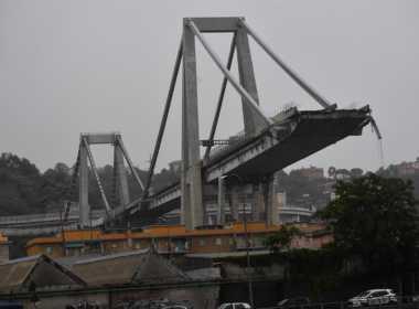 Genova, il Ponte Morandi dopo il crollo.