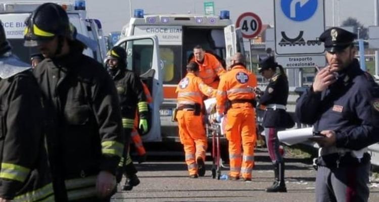 Incidente stradale sulla A21