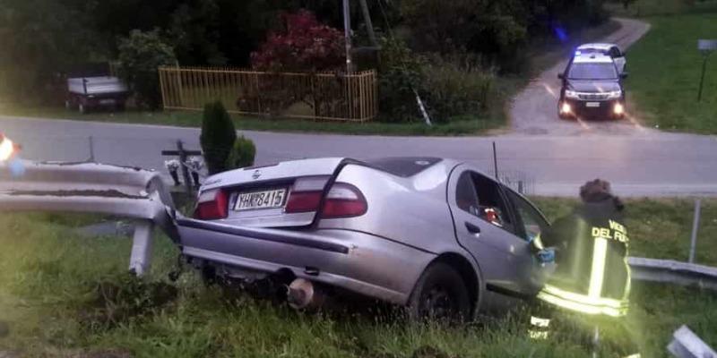 Incidente A5, auto fuori strada