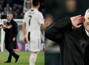 Mourinho dopo Juve-Manchester Utd.