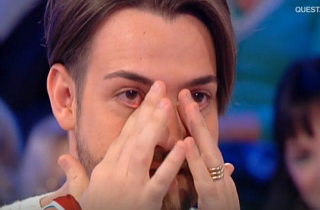 Valerio Scanu in lacrime